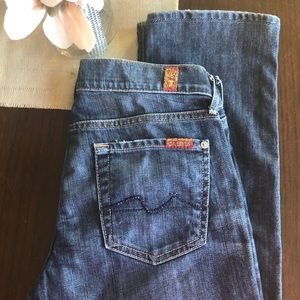 7 for all Mankind Straight leg jeans. Size 26